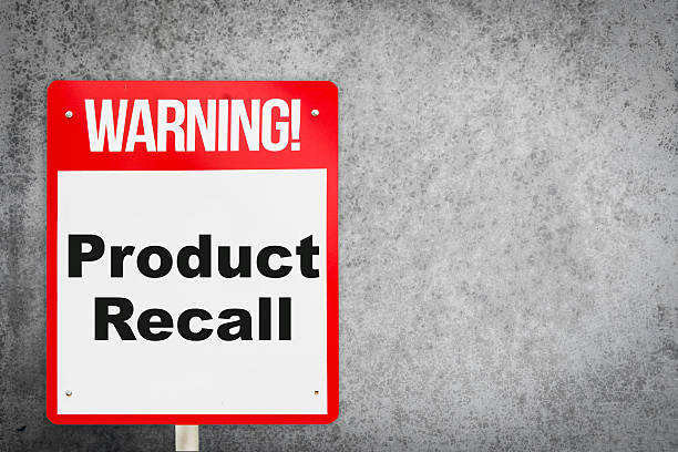 product recall problem warning signage for production industry. - 不完美 個照片及圖片檔
