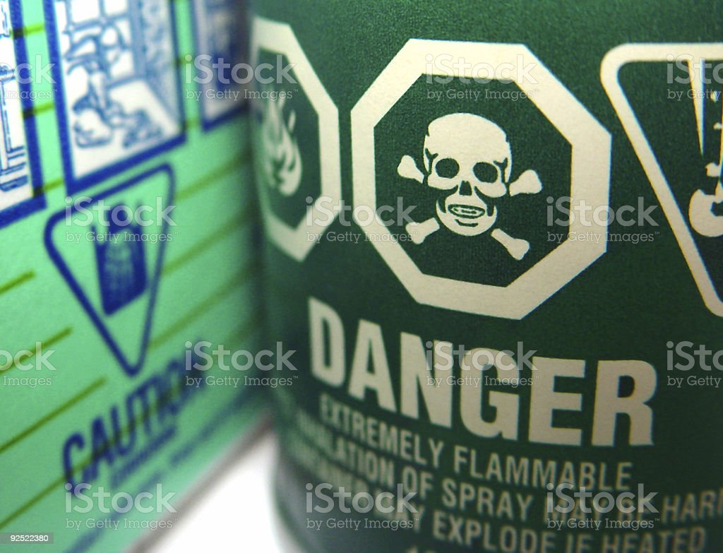 Product Safety Warnings royalty-free stock photo