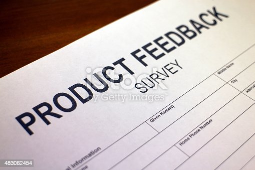 178090546 istock photo Product Satisfaction Questionnaire Form 483062454