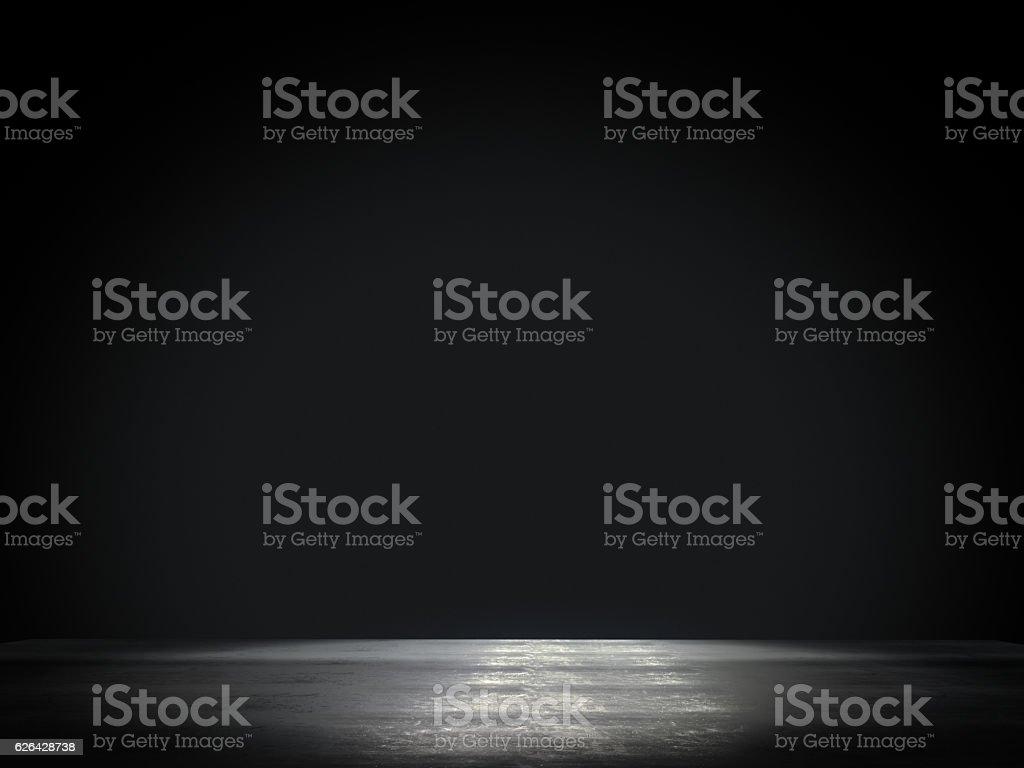 Product showcase spotlight background.3D rendering stock photo