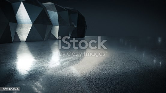 istock Product showcase spotlight background,Abstract empty space.3D rendering 876420600