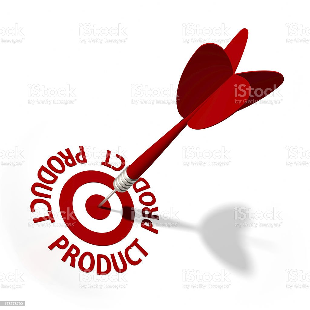 Product Target royalty-free stock photo