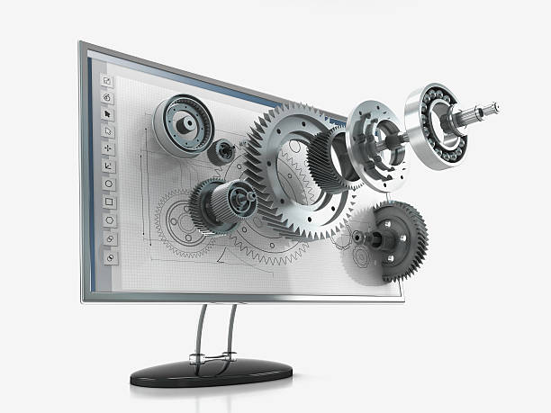 3d product visualization - computer aided manufacturing stock photos and pictures