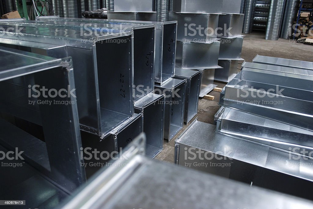 Production hall stock photo