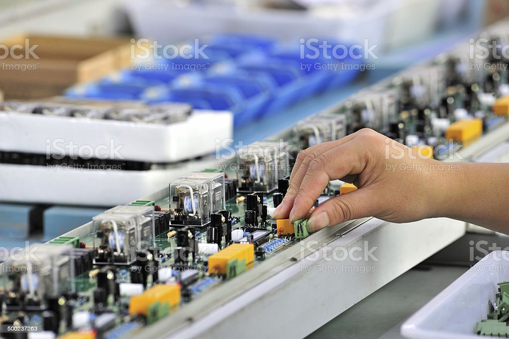 Production Line, Electronics Industry stock photo