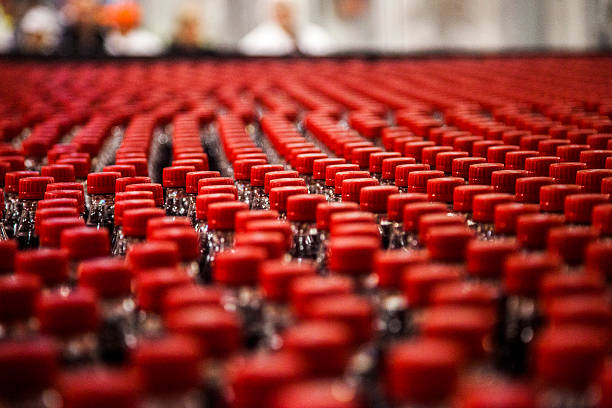 production line - bottling plant stock photos and pictures