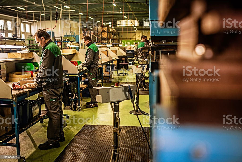 Production Line Workers stock photo