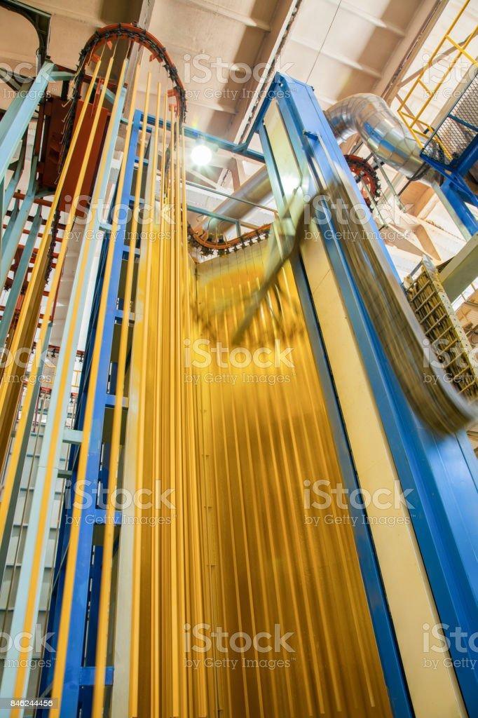 Produktion von Aluminium-Profilen für Fenster und Türen – Foto