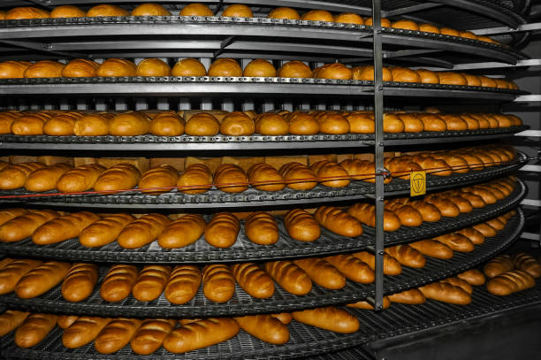 Herstellung von Brot in der Bäckerei – Foto