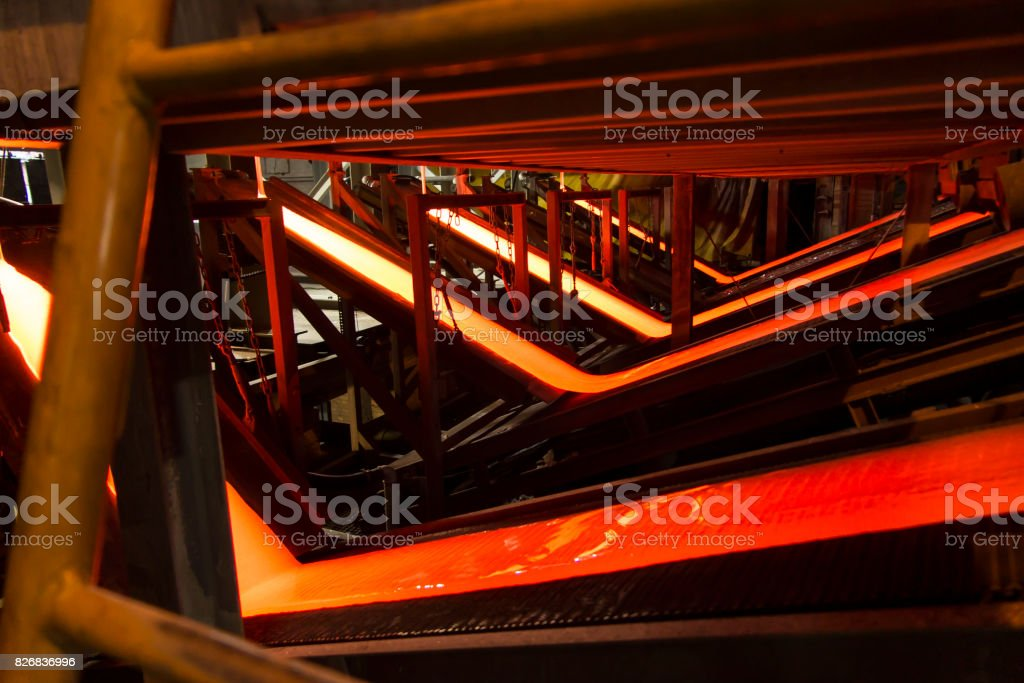 production of enamel stock photo