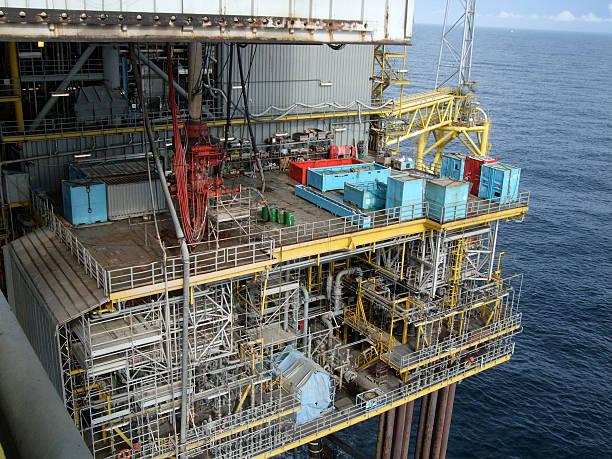 Production platform BOP Deck stock photo