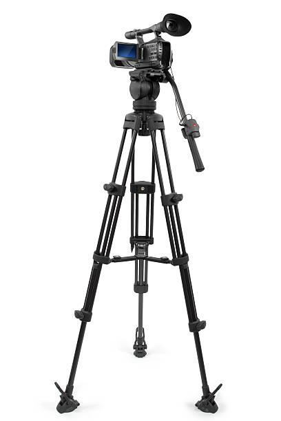 Production Video Camera on a Tripod stock photo