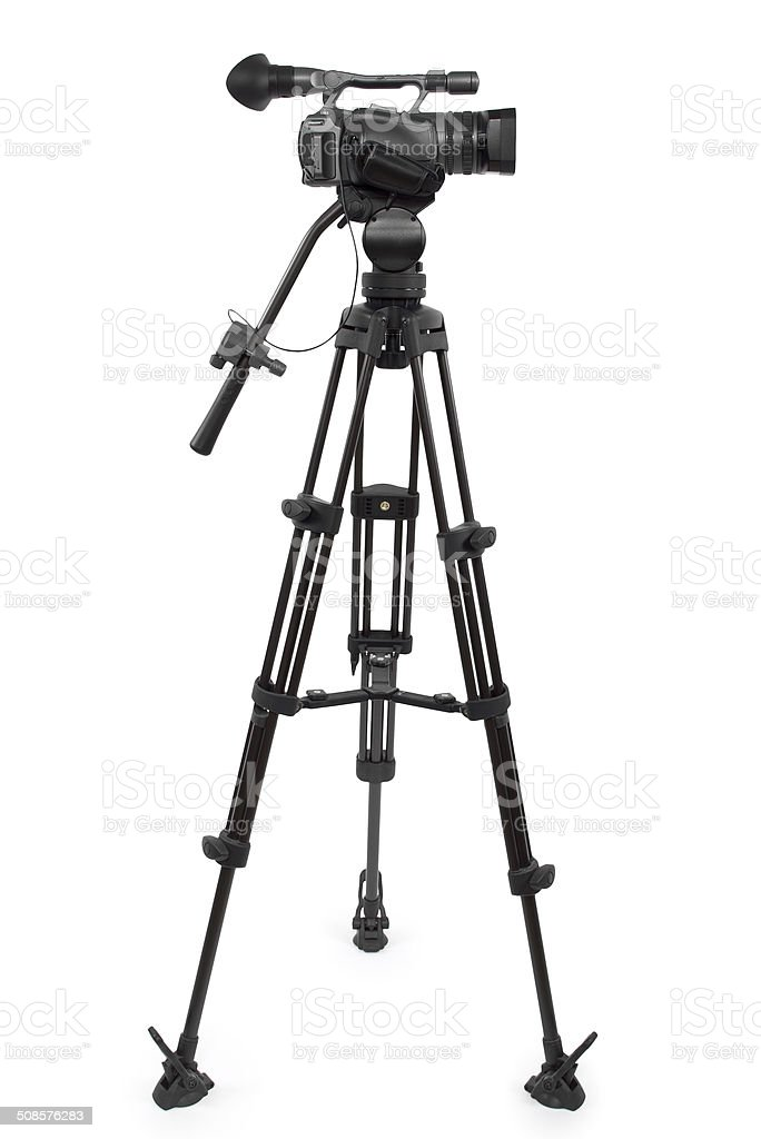 Production Video Camera on a Tripod stock photo