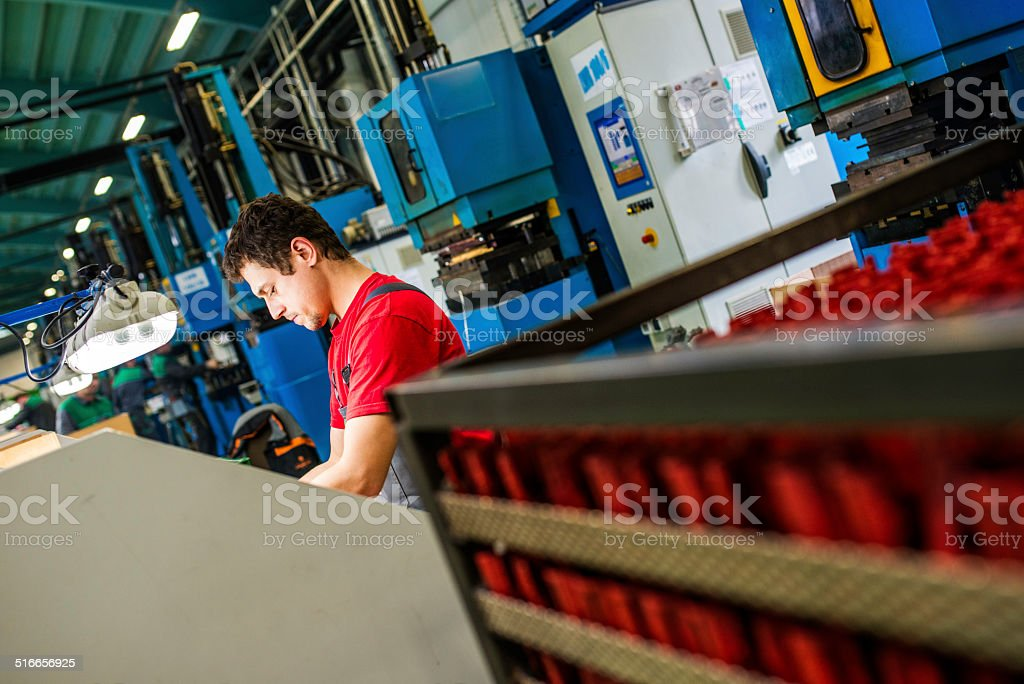 Production Worker stock photo