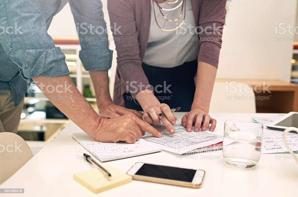 Productivity is all in the planning stock photo