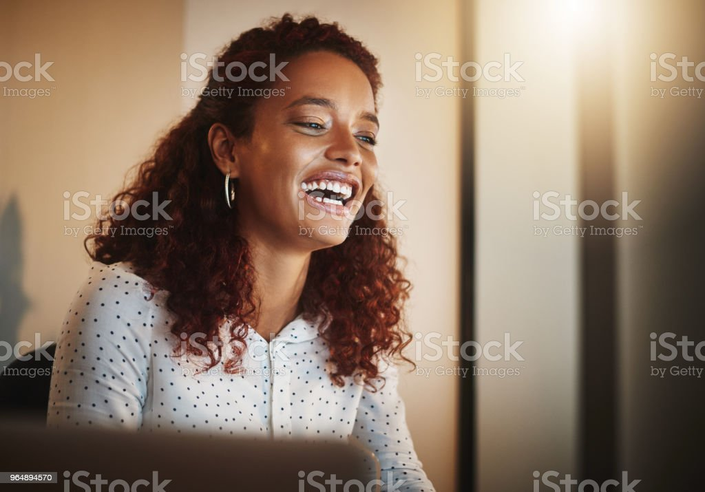 Productivity, the smile activator royalty-free stock photo