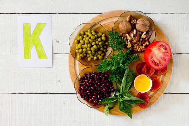 products containing potassium - kalium stockfoto's en -beelden