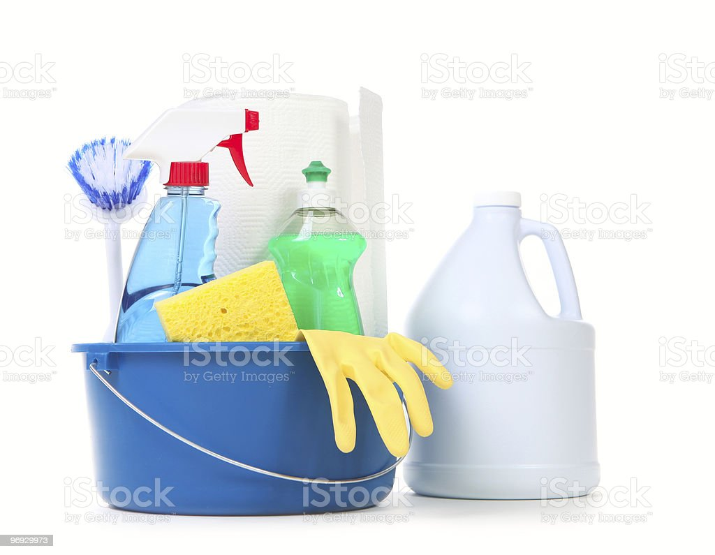 Products for Daily Cleaning Use in the Home royalty-free stock photo