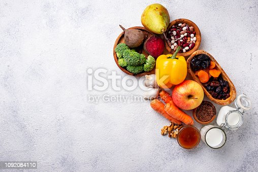 istock Products for healthy bowel.  Food for gut 1092084110