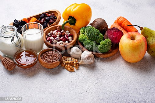istock Products for healthy bowel.  Food for gut 1132328093