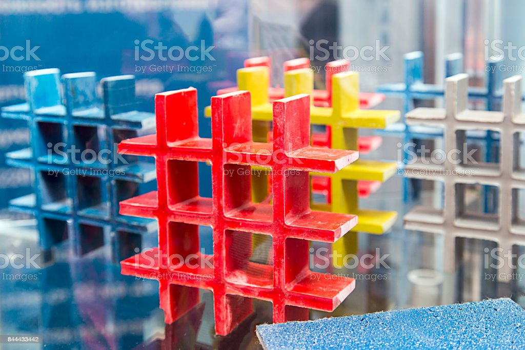 Products for the construction of polyurethane stock photo