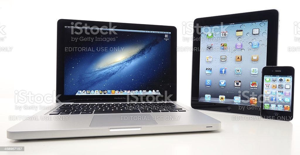 Products of Apple Computers royalty-free stock photo