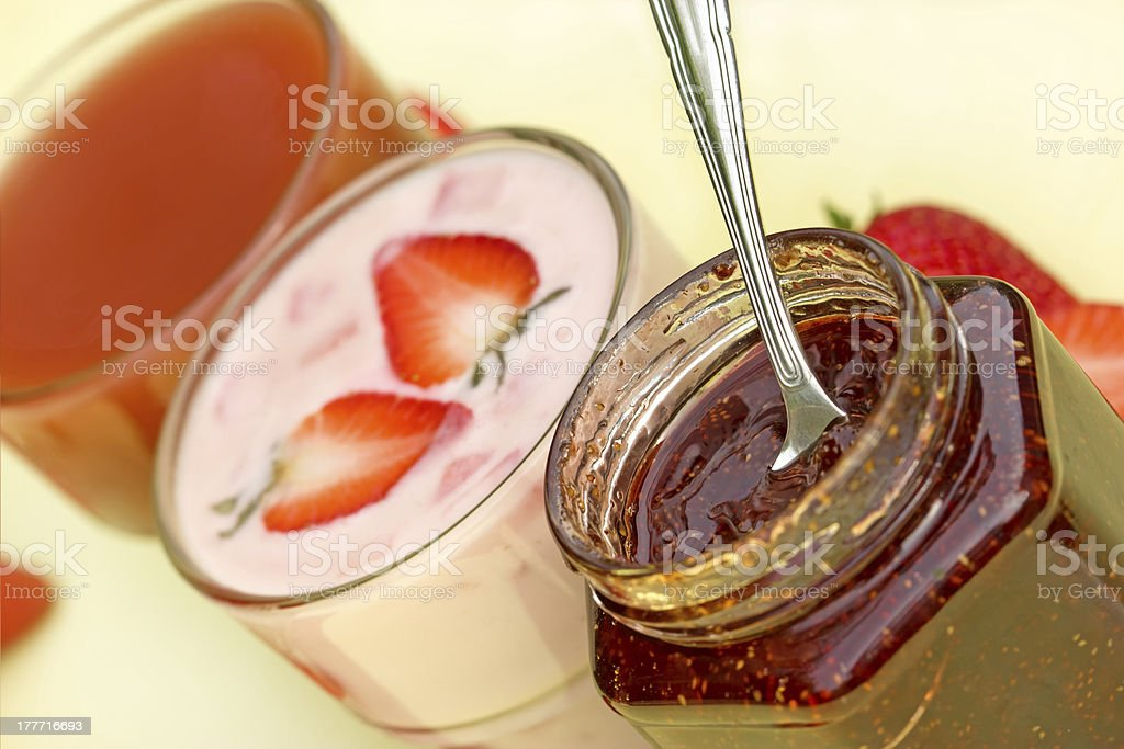 Products of strawberry royalty-free stock photo