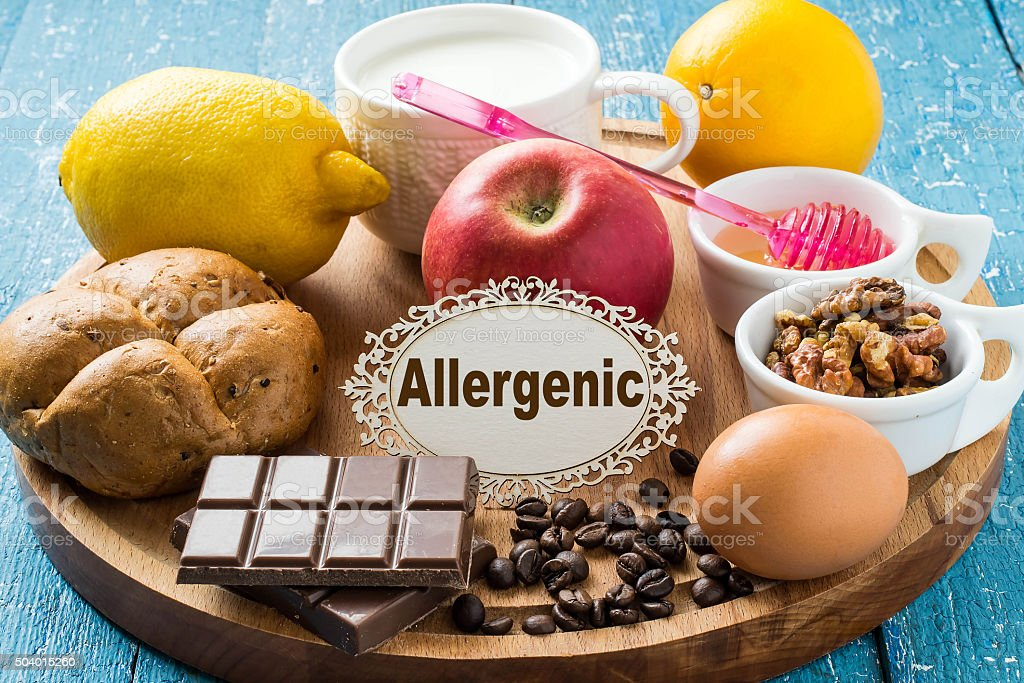 Products that cause allergy stock photo