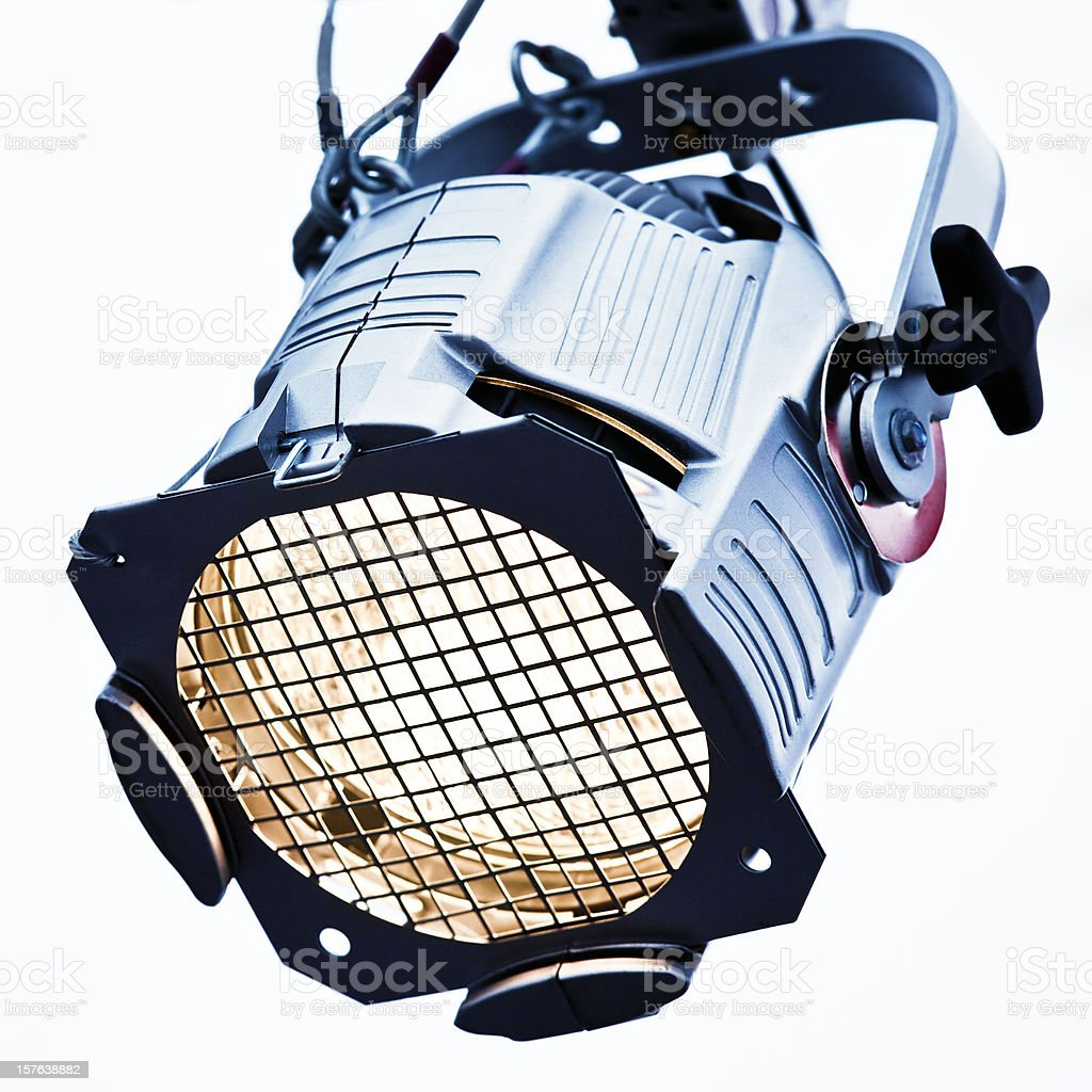 Profesional reflector on stage royalty-free stock photo
