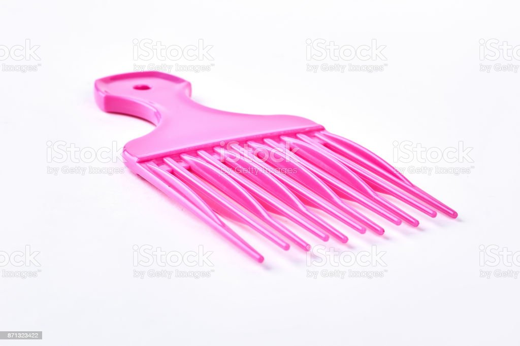 Professional afro comb for hairdresser. stock photo