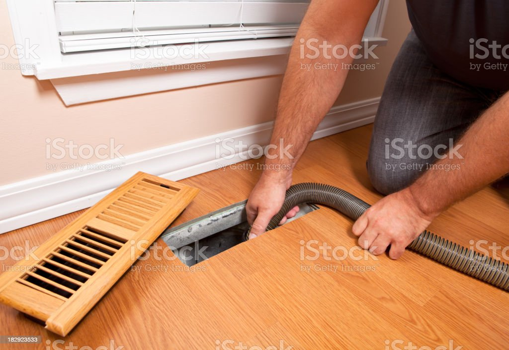 Professional Air Duct Cleaning stock photo