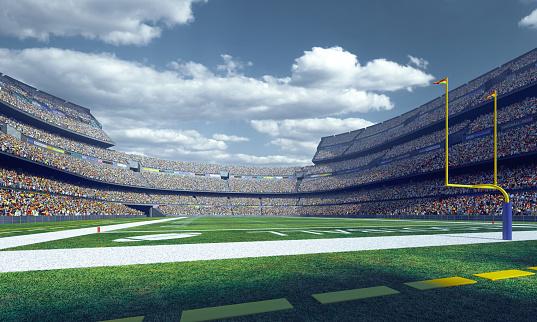 Professional american football stadium