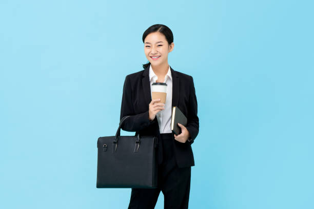 Professional Asian businesswoman in formal suit stock photo