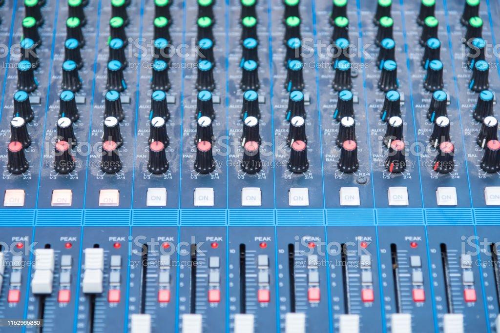 Professional Audio dj mixer console, sound tools and gear, studio...