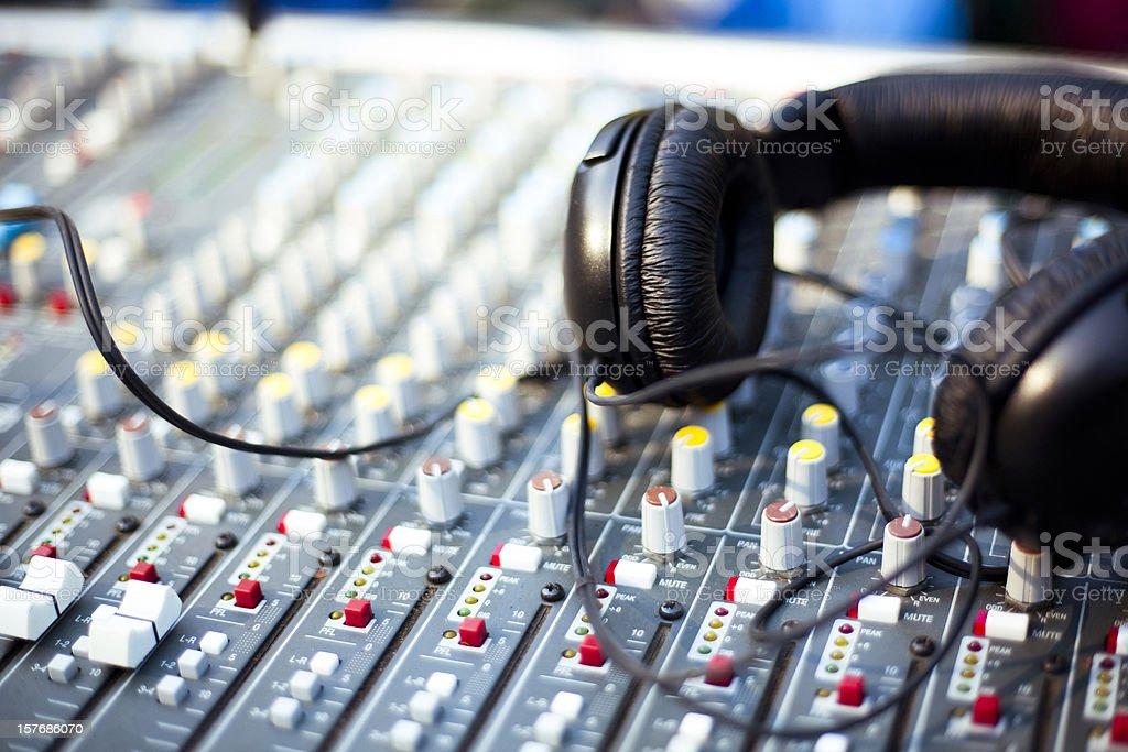 Professional Audio Headphones stock photo