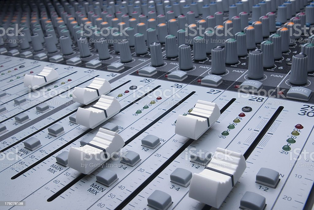 Professional Audio Mixer stock photo