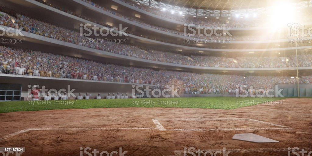Professional baseball arena in 3D stock photo