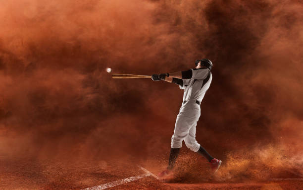 Professional baseball player. stock photo