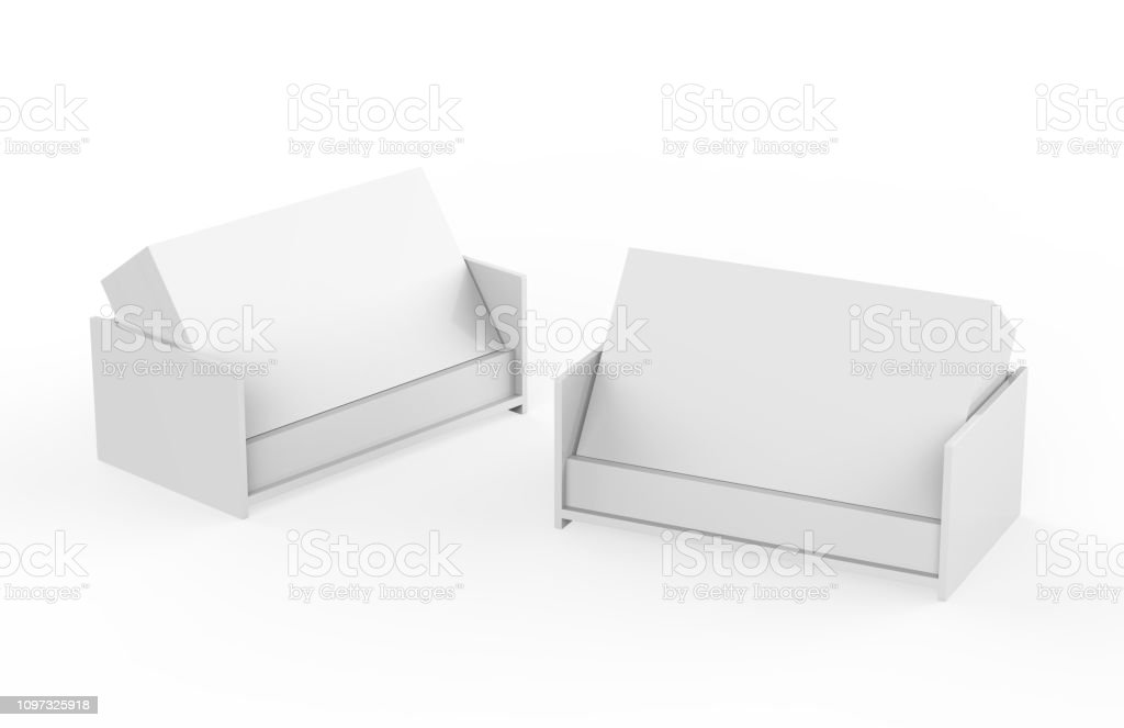 Professional blank business card with card holder on isolated white background, 3d illustration stock photo