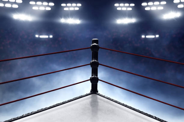 professional boxing ring - wrestling stock photos and pictures