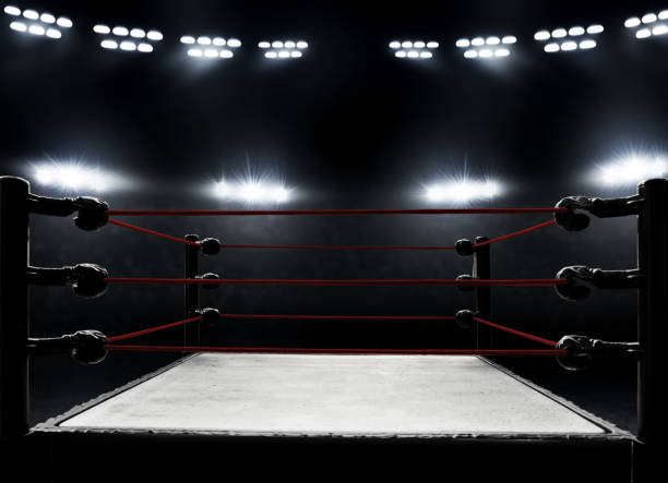 professional boxing ring - wrestling stock pictures, royalty-free photos & images