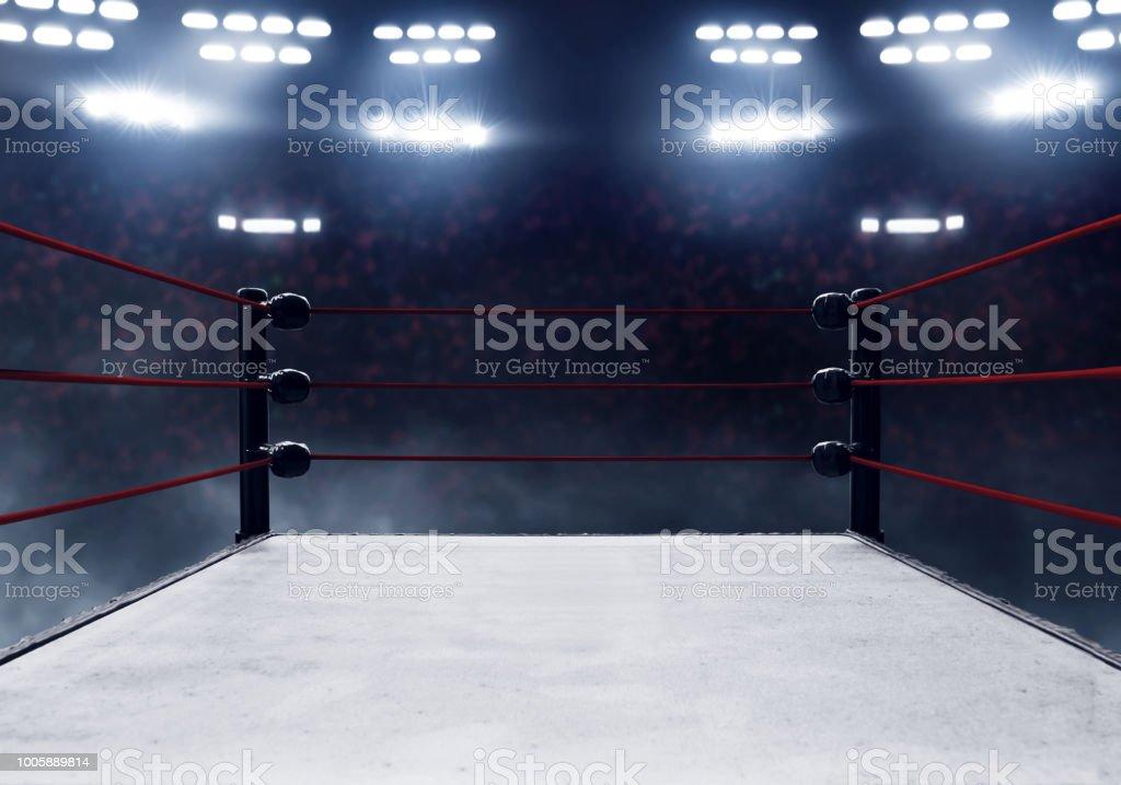 Ring de boxeo profesional - foto de stock