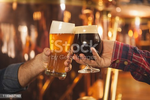 istock Professional brewer working at his beer pub 1153437163