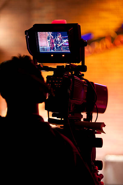 Professionelle video-Kamera im studio TV – Foto