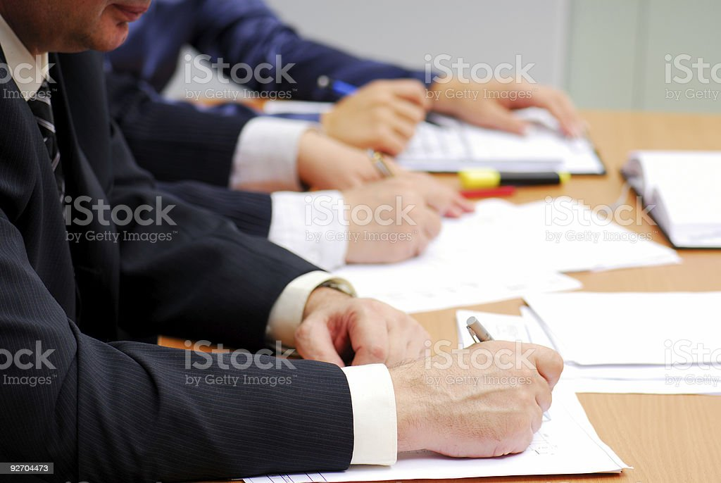 Professional business team royalty-free stock photo
