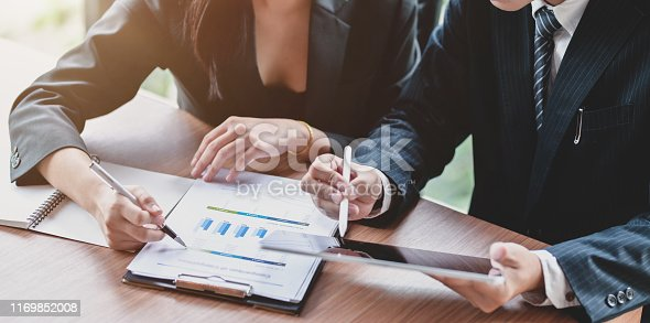1068752548istockphoto Professional business team planing the company strategy together 1169852008