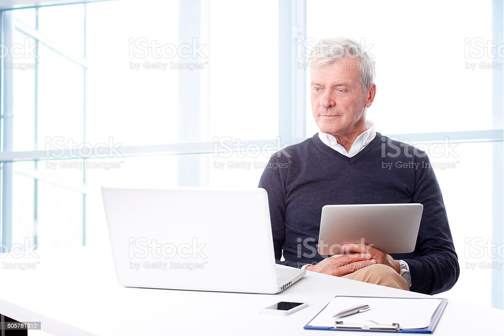 Professional businessman portrait stock photo