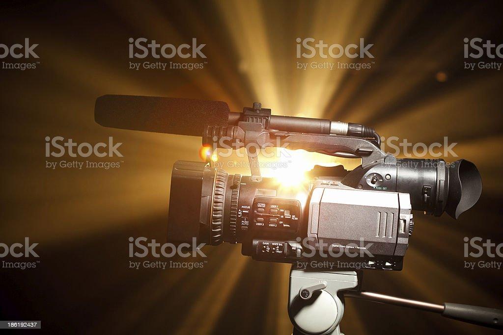 professional camcorder stock photo