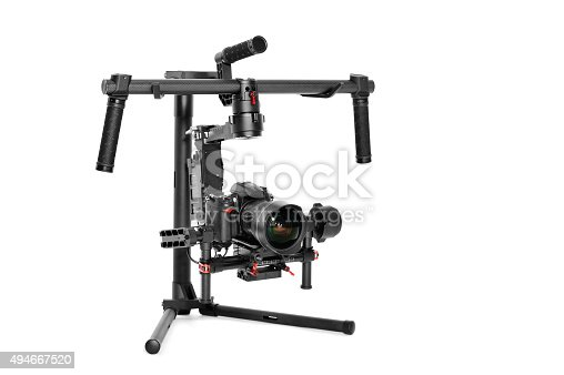 istock Professional camera set on a 3-axis gimbal 494667520