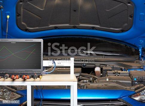 istock Professional car electric service 656349302